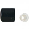 Farfalla Крышка с сливным кольцом, черная, 6 шт.