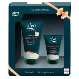 Alva Гель для душа и увлажняющий крем для мужчин в подарочной упаковке