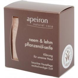 Apeiron Аюрведическое растительное мыло Ниим и Глина 100 г