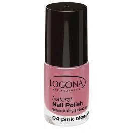 LOGONA Натуральный лак для ногтей №04 Розовый цветок 4 мл