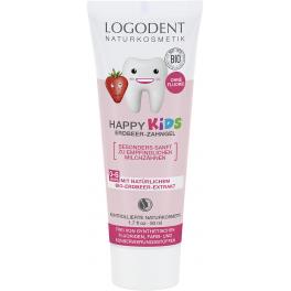 LOGODENT Детская гелевая зубная паста с натуральным ароматом земляники 50 мл