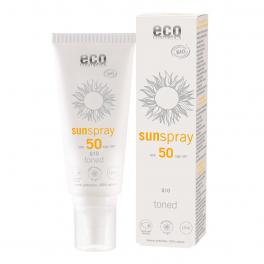 ECO-Cosmetics Солнцезащитный спрей для лица и тела SPF 50, тональный с Q10 100 мл