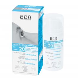 ECO-Cosmetics Солнцезащитный лосьон НЕЙТРАЛЬНЫЙ SPF 20, без запаха 100 мл